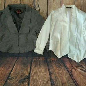 2 blazer jacket tops -mossimo and body central